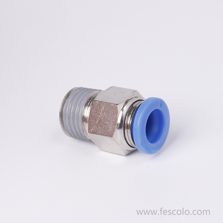 PC Male Straight Push In Tube Fitting