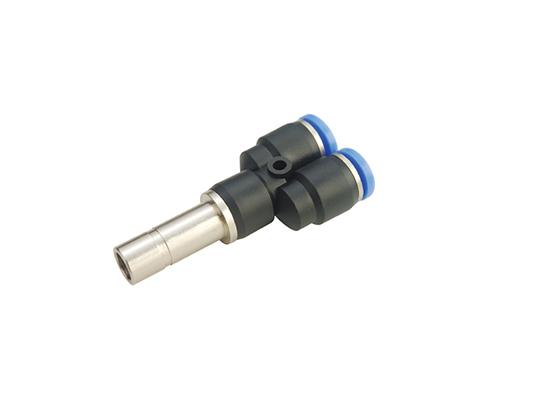 PWJ Unequal Plug-in Y Push In Tube Fitting