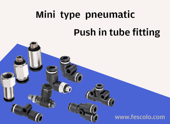 Pneumatic Mini Type Push In Fitting