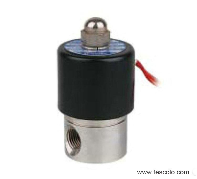 Stainless steel solenoid valve