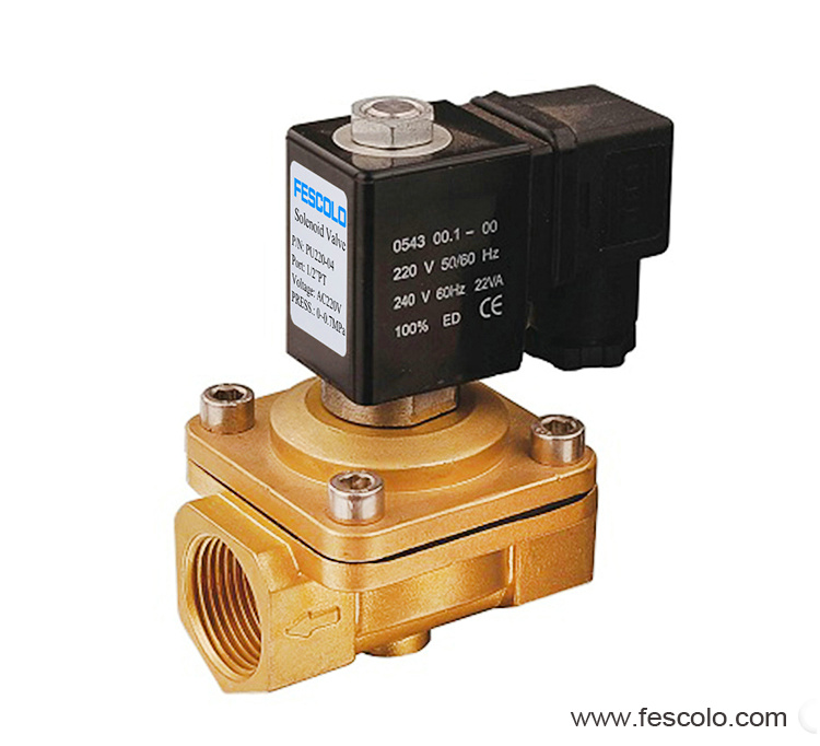 Direct acting solenoid valve