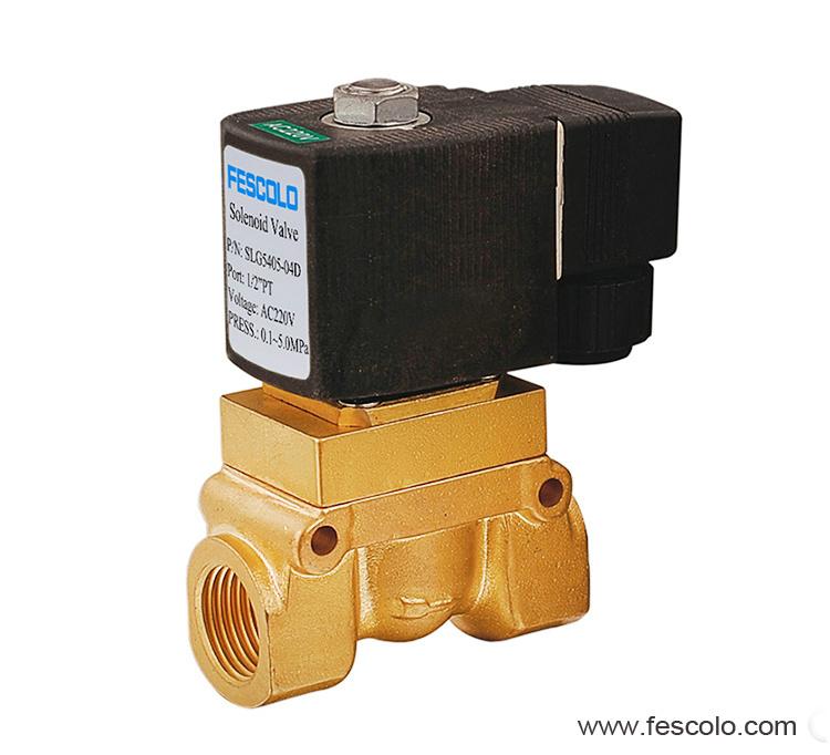 High pressure and high temperature solenoid valve