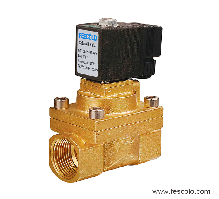 High pressure and high temperature solenoid valve