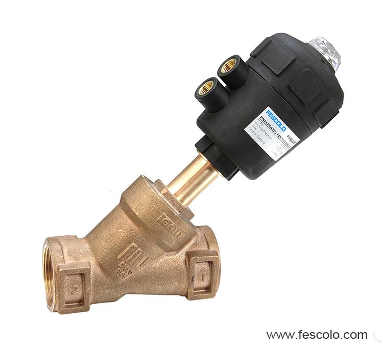 Gunmetal body angle seat valve