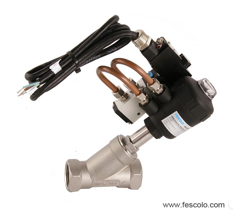 Angle seat valve