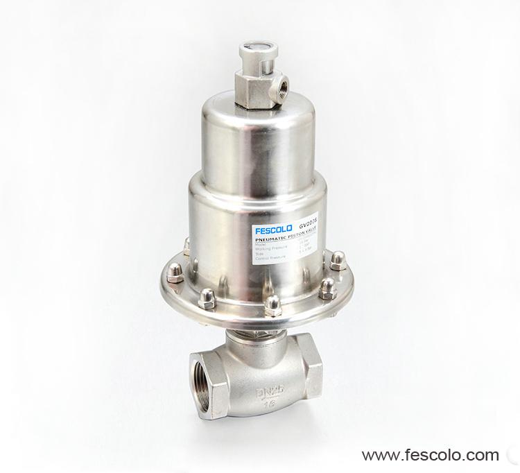Polished actuator globe control valve