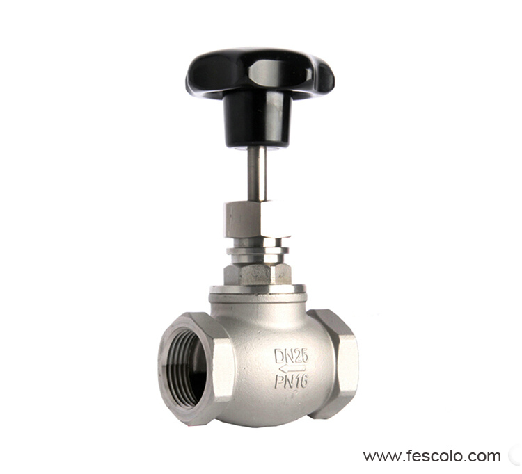 Type manual right globe control valve