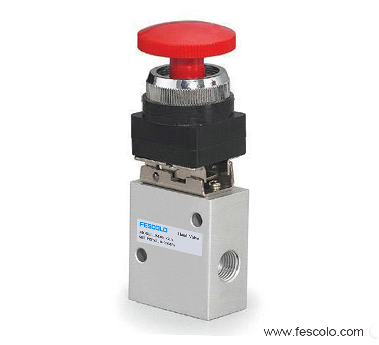 Push button valve