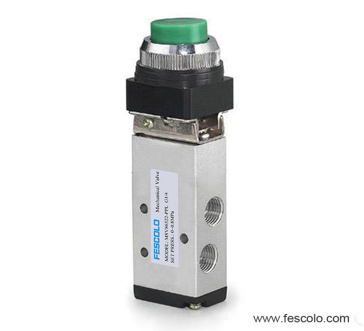 Push button valve