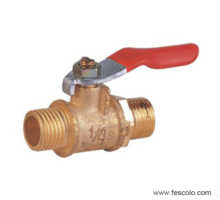 Brass female mini ball valve