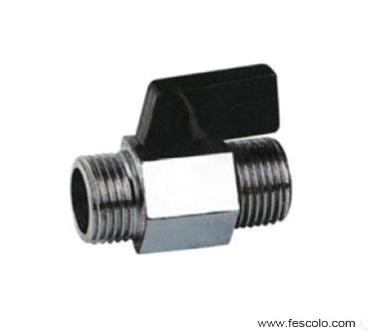 Male to male mini ball valve