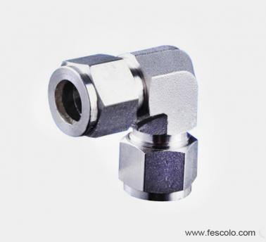 QPV-S Stainless Steel Elbow with Nut-lock