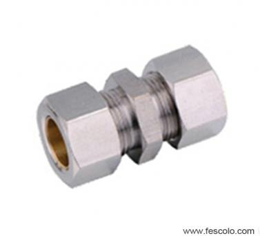 QPU Brass Straight Fitting with Ferrule