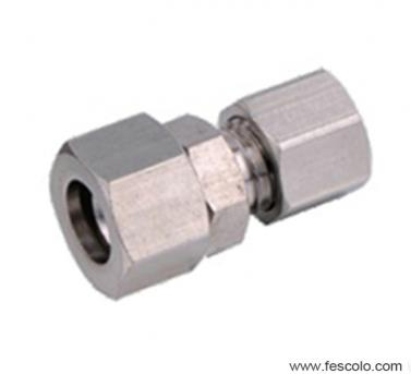 QPCF Brass Female Straight Fitting with Ferrule