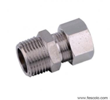 QPC Brass Male Straight Fitting with Ferrule